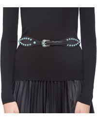 Prada - Embellished Leather Belt - Lyst