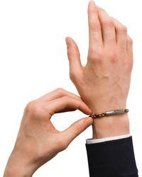 Prada - Braided Leather Wrist Strap - Lyst