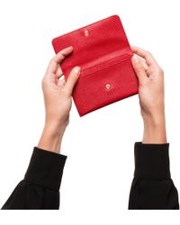 b70e2692f6ed Lyst - Prada Leather Card Holder in Red