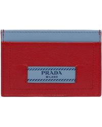 Prada - All Designer Products - Etiquette Leather Credit Card Holder - Lyst