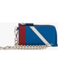 Prada - All Designer Products - Saffiano Leather Credit Card Wallet - Lyst
