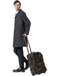 e07f716e66bf Lyst - Prada Nylon And Saffiano Leather Trolley in Black for Men