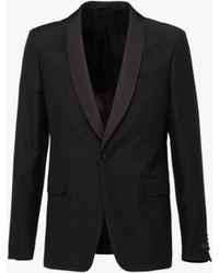 Prada - All Designer Products - Kid Mohair Jacquard Tuxedo Jacket - Lyst