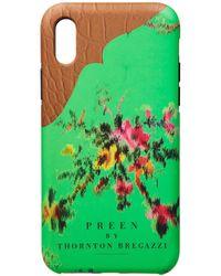 Preen By Thornton Bregazzi - Iphone Case Emerald Garland - Lyst