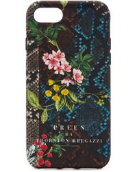 Preen By Thornton Bregazzi - Iphone Case Floral Snake - Lyst