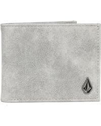 Volcom - Slim Stone Pu Wallet - Lyst