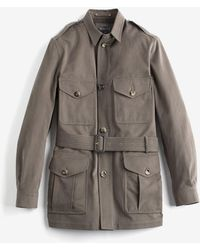 Jacket Belted Brushed The Safari Cotton 35L4RjA