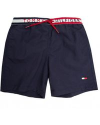 Tommy Hilfiger Logo Waistband Drawstring Swim Shorts