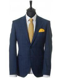 BOSS Black - Johnstons Lenon Windowpane Check Suit - Lyst