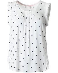 ea58cbb7eaaf Marks & Spencer Spotty Frill Short Sleeve T-shirt in Pink - Lyst