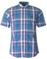 Marshall Artist - Madras Short Sleeved Check Shirt - Lyst
