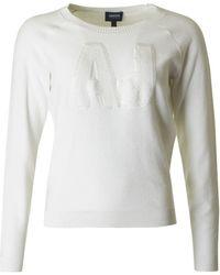 Armani - Sparkle Logo Knit - Lyst