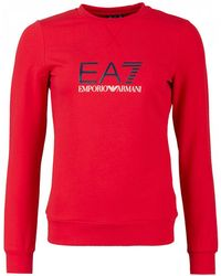 EA7 - Big Logo Crew Neck Sweat - Lyst