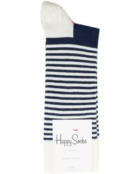 Happy Socks - Half Striped Cotton Socks - Lyst