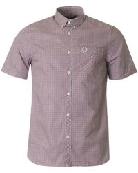Fred Perry - Three Colour Short Sleeved Gingham Shirt - Lyst