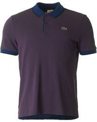 Lacoste L!ive - Panelled Short Sleeved Polo - Lyst