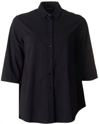 Armani Jeans - Oversized Cotton 3/4 Sleeved Shirt - Lyst