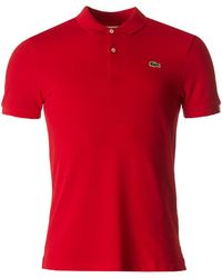 Lacoste L!ive - Short Sleeved Slim Fit Polo - Lyst