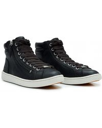 UGG - Olive Leather Trainer Boots - Lyst
