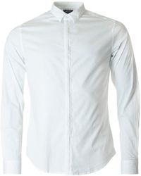 Armani | Long Sleeved Concealed Placket Shirt | Lyst