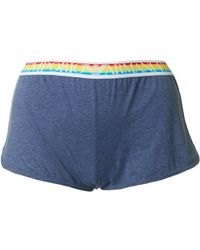 Emporio Armani - Rainbow Trim Shorts - Lyst