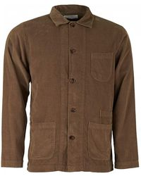 Universal Works - Fine Cord Bakers Overshirt - Lyst