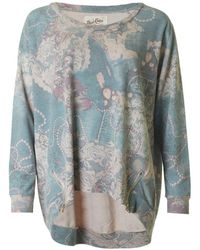 A Postcard From Brighton | Bailee Bejewelled Print Oversized Sweat | Lyst