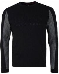 BOSS - Athleisure Royce Emed Logo Crew Neck Knit - Lyst