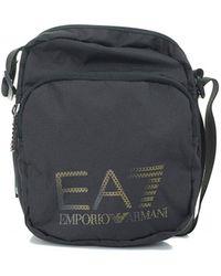 EA7 - Train Prime Metallic Logo Pouch Bag - Lyst