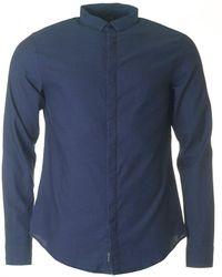 Armani Jeans - Small Collar Dot Shirt - Lyst