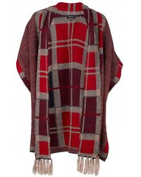 Barbour - Dunnit Tartan Cape With Scarf - Lyst