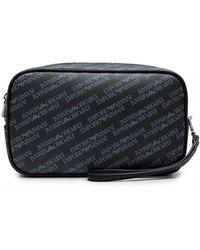 d4eb226c954 Armani Jeans Logo Wash Bag in Black for Men - Lyst