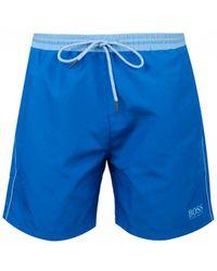 fadda29edd BOSS by Hugo Boss Starfish Light Blue Swim Shorts in Blue for Men - Lyst