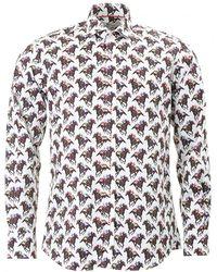 Claudio Lugli - Horse Racing Print Shirt - Lyst