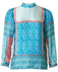 BOSS by Hugo Boss - Paisley Patterned Silk Top - Lyst