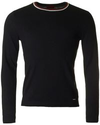 HUGO | Sabo Tipped Crew Neck Knit | Lyst
