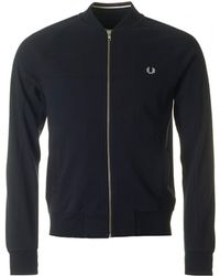 Fred Perry - Panelled Bomber Neck Sweat - Lyst