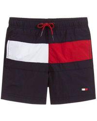 Tommy Hilfiger - Flag Front Drawstring Swim Shorts - Lyst