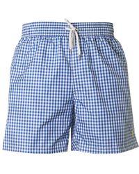 Polo Ralph Lauren - Traveller Gingham Swim Shorts - Lyst