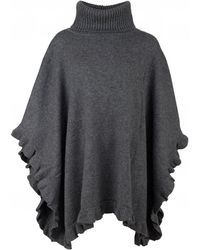 UGG - Jacey Fringe Detail Knitted Poncho - Lyst