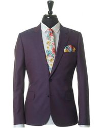 Paul Smith - Slim Wool Silk Micro Check Suit - Lyst