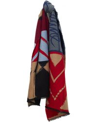 Vivienne Westwood - Graphic Print Wool Cape Scarf - Lyst