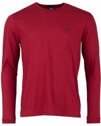 BOSS - Athleisure Togn Long Sleeved Crew Neck Logo - Lyst
