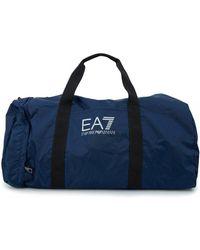 fb38de2c0ff9 Lyst - EA7 Italian Team Smart Duffle Gym Bag in Blue for Men