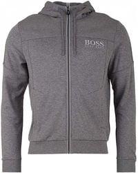 BOSS Athleisure - Saggy Zip Through Hooded Sweat - Lyst
