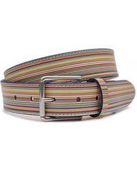 Paul Smith - Multi Striped Leather Belt - Lyst