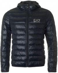 EA7 - Packaway Hooded Jacket - Lyst