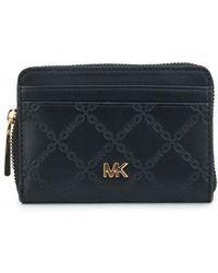 Michael Kors - Embossed Leather Zip Around Purse - Lyst