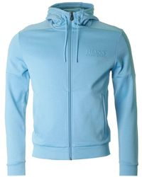 BOSS Athleisure - Saggy Full Zip Hooded Sweatshirt - Lyst
