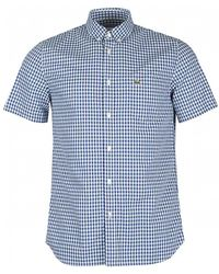 Lacoste - Short Sleeved Gingham Shirt - Lyst